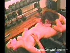 Lesbians work out naked and eat pussy tubes