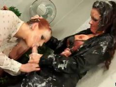 Filthy mess threesome with hot lesbians movies at sgirls.net