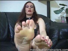 Kinky lingerie redhead foot fetish fun videos