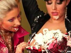 Super messy food threesome with tasty bitches movies at find-best-tits.com