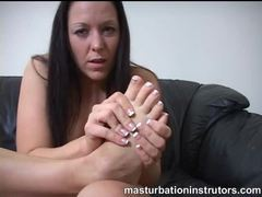 Naked hottie teases with her sexy feet movies at freekilomovies.com