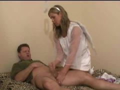 Girl dressed as angel gives handjob movies
