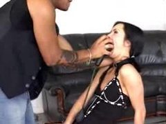 Sub slut lets him fuck her mouth with toys videos