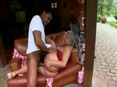 Black granny in corset takes young black dick videos