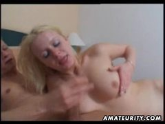 Amateur blonde girlfriend homemade blowjob and fuck with facial cumshot movies at relaxxx.net