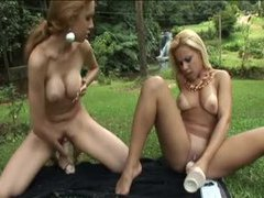 Brazilian girls with big dildos fuck outdoors movies at kilomatures.com