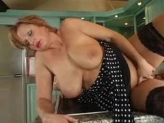 Full body mature takes young cock in her kitchen movies at kilosex.com