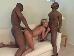 Slim skinny hot chick nailed by big black dicks movies