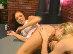 Hot blonde and brunette eat pussy and ass videos