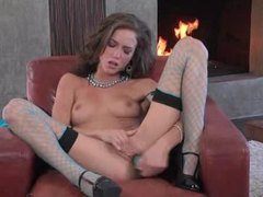 Malena morgan at her best in fishnets masturbates tubes
