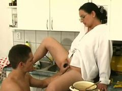 Hairy pussy mom in the kitchen sucks dick movies at find-best-lingerie.com
