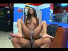 Watch a black girl suck on a big black cock tubes