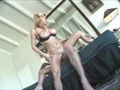 Blonde is incredibly hot sitting on his thick cock tubes