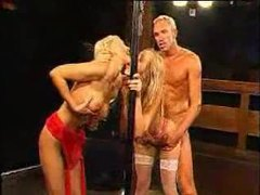 Hot blonde on her knees for huge bukkake movies at kilogirls.com