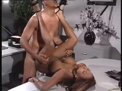 Office fuck with a blazing hot black chick movies at very-sexy.com