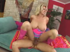 Penny porsche in shiny pink boots fucked tubes