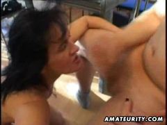 Mature amateur wife homemade suck and fuck with facial cumshot tubes