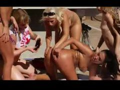 Lesbian orgy poolside with hot pornstars videos