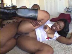 Black slut in nurse costume and boots boned videos