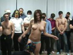 Busty girl at czech gang bang party movies at sgirls.net