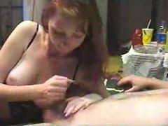 Young redhead masturbates an amateur cock tubes