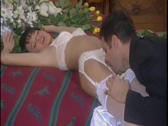 Erotic foreplay with his gorgeous new bride movies at freekilosex.com