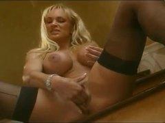 Pornstar bimbo blondes fool around in lesbian vid videos