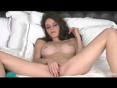 Teen in braces has big tits and masturbates videos