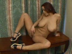 Busty girl in a hotel room plays with her cunt movies at freekilopics.com
