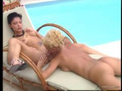 Euro girls 69 by the pool and it sizzles movies at adipics.com