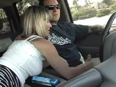 Wife jacks him off in the car videos