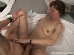Multi  amateurs orgy at czech swingers party movies at kilosex.com