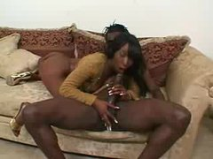 Glamorous black girl sucks on a bbc videos