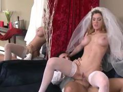Bride in a white corset fucked by big cock movies at kilogirls.com