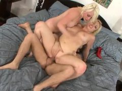 Blondes with curves share in his big cock videos