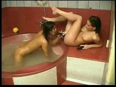 Bathtub hotties use their toys for a thrill movies at find-best-lingerie.com