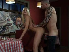 Waitress hardcore sex in pizza place videos