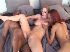 Black guy loves to get rough with these two sluts videos
