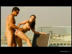 A big dick fucks her tight cunt on the deck movies at find-best-babes.com