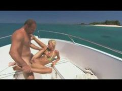 Skinny teen on a boat fucked by two dudes movies at sgirls.net