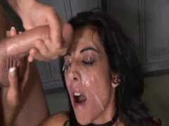 Big loads hit the face of this slut videos