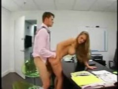 Secretary is perfect and bends over for him videos