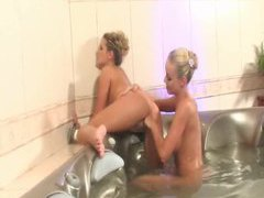 Hot tub hotties having fun like lezzies movies at find-best-ass.com