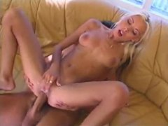 Skinny blonde hottie gives up the ass videos