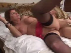 Busty mom is a redhead in need of cock videos