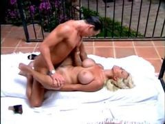 Bodacious blonde milf fucked at the pool clip