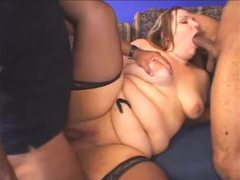 Fat girl and her two black lovers videos