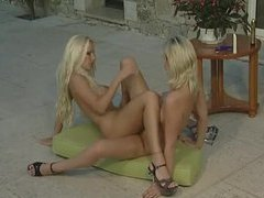 Sexy porn blondes have lesbian sex outdoors movies at sgirls.net