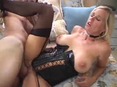 Blonde in wicked hot leather corset fucked movies