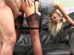 Amateur in seamed stockings fucked from behind movies at kilosex.com